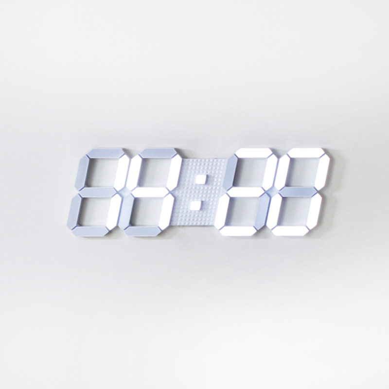 LED 3D Tiranis Clock-white